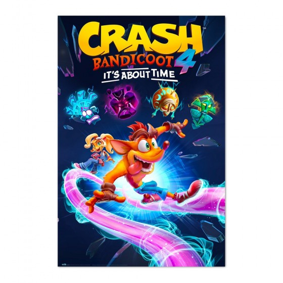 POSTER CRASH BANDICOOT 4 ITS ABOUT TIME