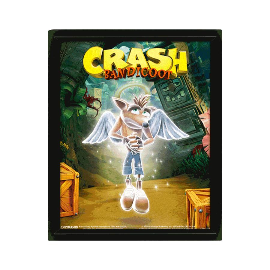 POSTER 3D CRASH BANDICOOT GAME OVER