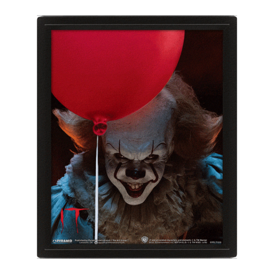 POSTER 3D PENNYWISE IT CAPÍTULO 1