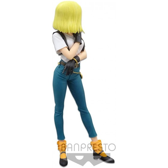 FIGURA ANDROIDE 18 GLITTER AND GLAMOURS DRAGON BALL 4