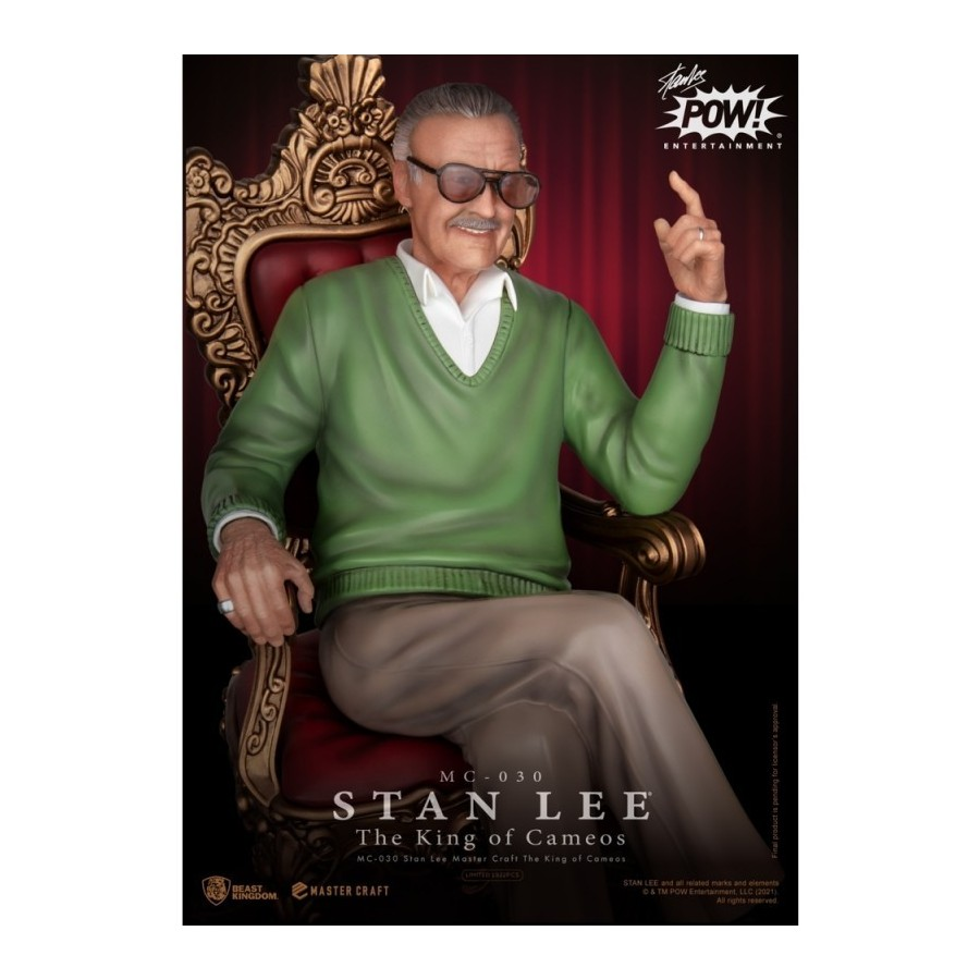 FIGURA STAN LEE MASTER CRAFT THE KING OF CAMEOS MARVEL COMICS